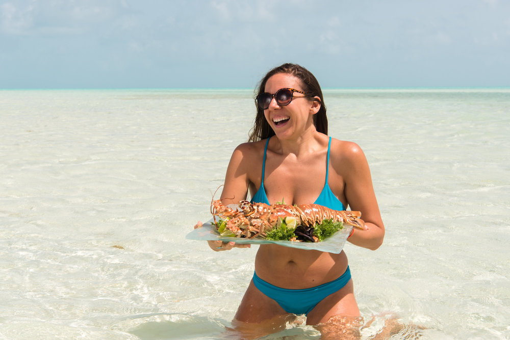 Ambergris-Cay-private-island-Caribbean-Resort-Turks-and-Caicos-lobster-22