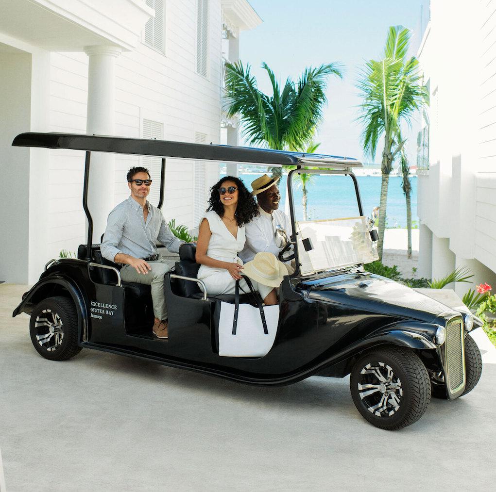 luxury-golf-cart-in-montego-bay-resort