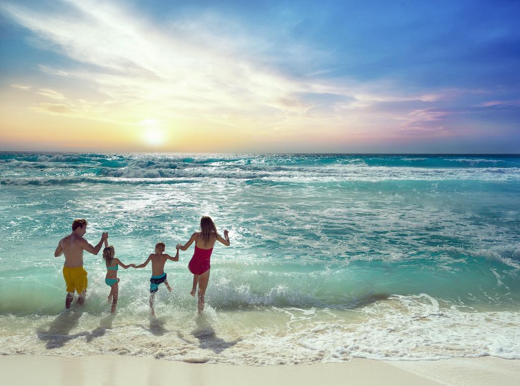 Family at beach 2