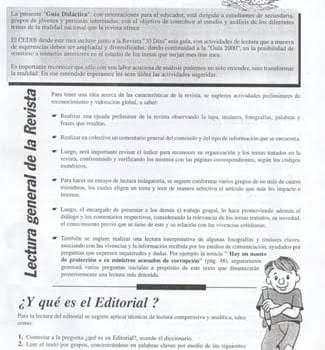 Guía Didáctica. Orientaciones para el educador. Anuario 2001, 30 Días de Noticias