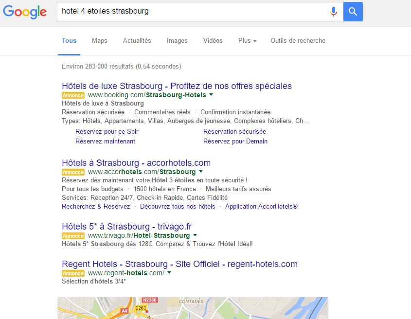 Annonces AdWords non connecté Google