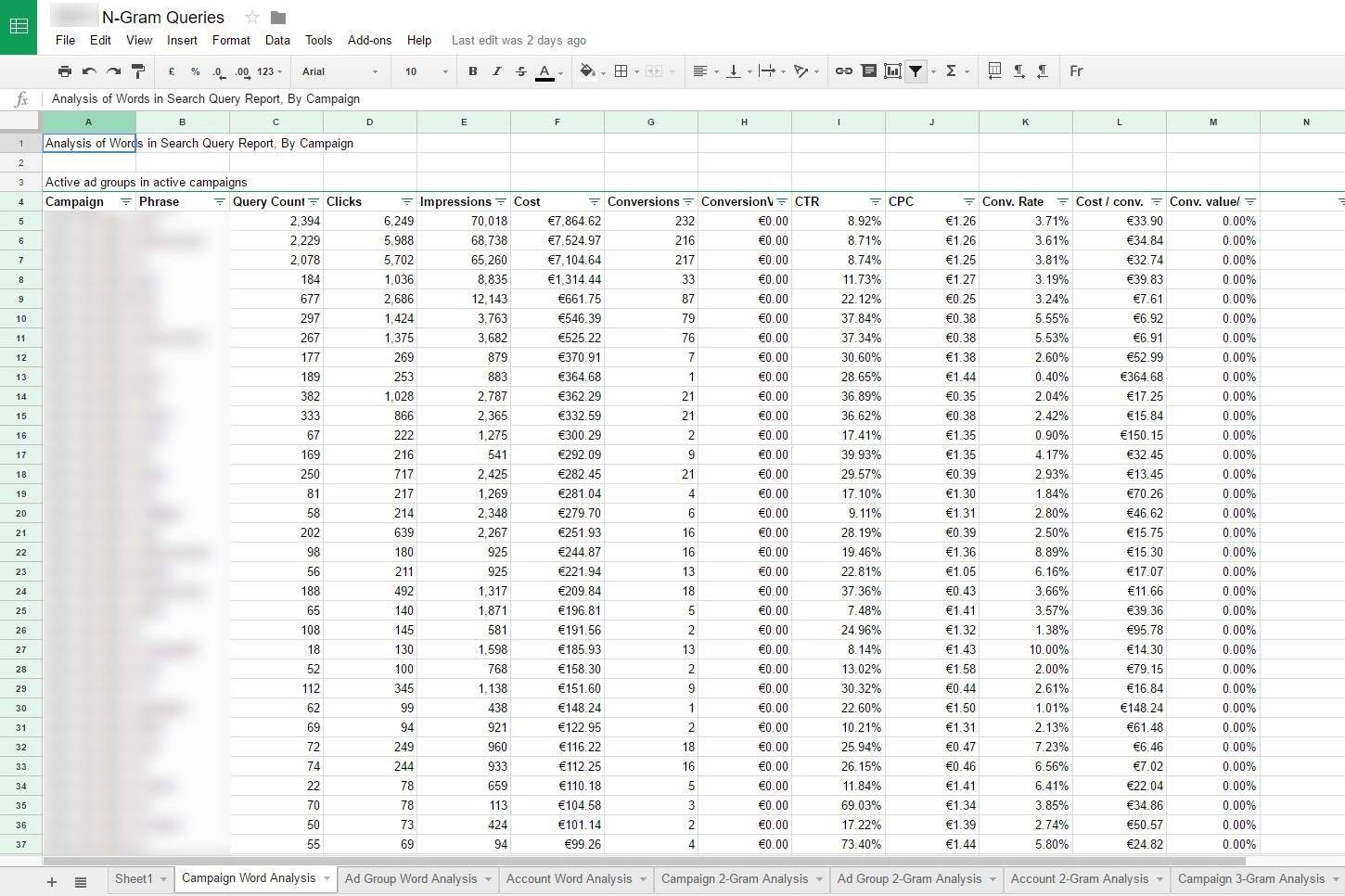 Feuille calcul google spreadsheet
