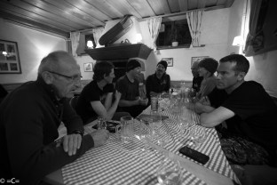 local André Anzévui (first descent north face cervin among other) joined us for a drink