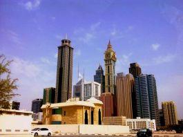 Prayer Buildings cover the cities. - Dubai