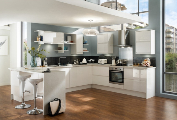 кухни угловые с барной стойкой дизайн фото 1