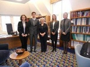 The team with Baroness Hale