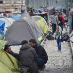 Outlook from Idomeni on the Greek-Macedonian border