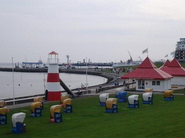 Zicht op de Elbe bijCuxhaven.
