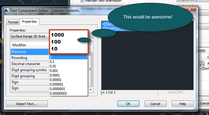 how to change station precision in civil 3d