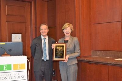 Senator Baldwin and Jeff Carter Award Presentation