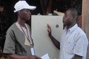 Tambila expose sa Fontaine au SIAO