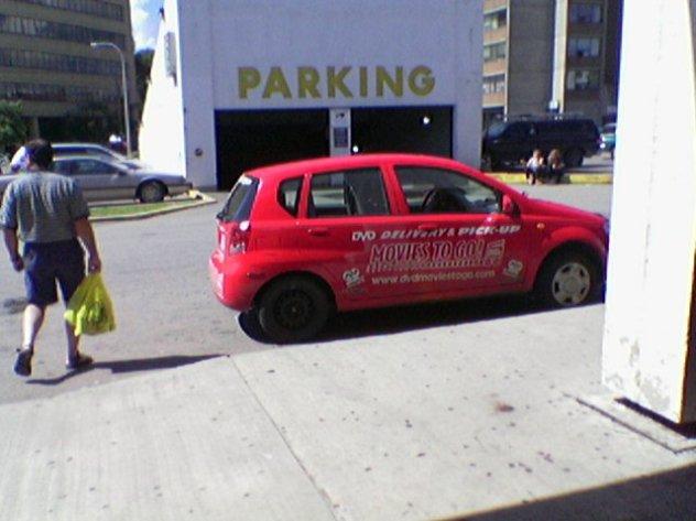Car in Loading Zone