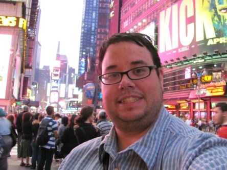 Me at Times Square