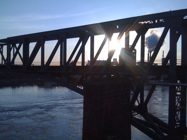 Sun through Bridge