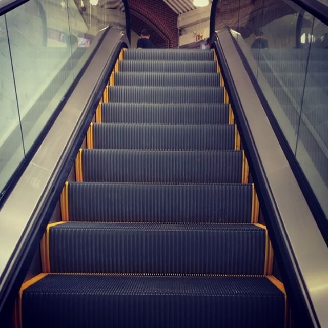 A working escalator!