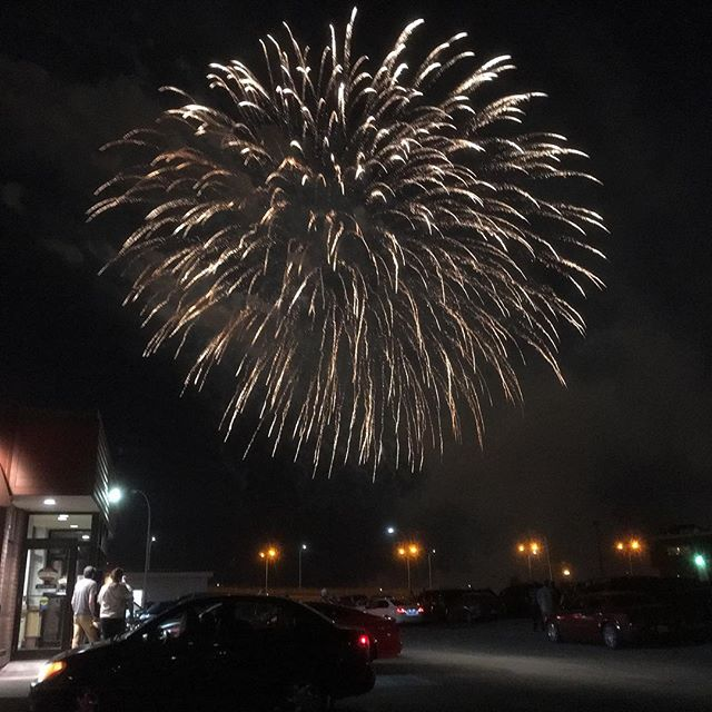 My best photo of the night. #igerssaintjohn #saintawesome #sjnb #fireworks