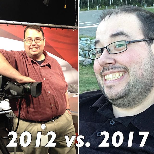 Following the fad here is my 2012 and 2017 comparison photo.