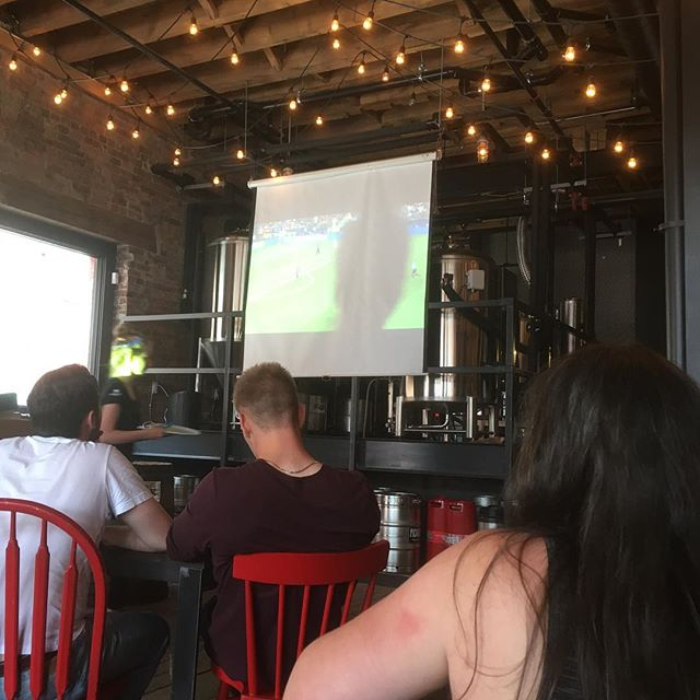 Great soccer/football crowd for the World Cup finale. #saintawesome