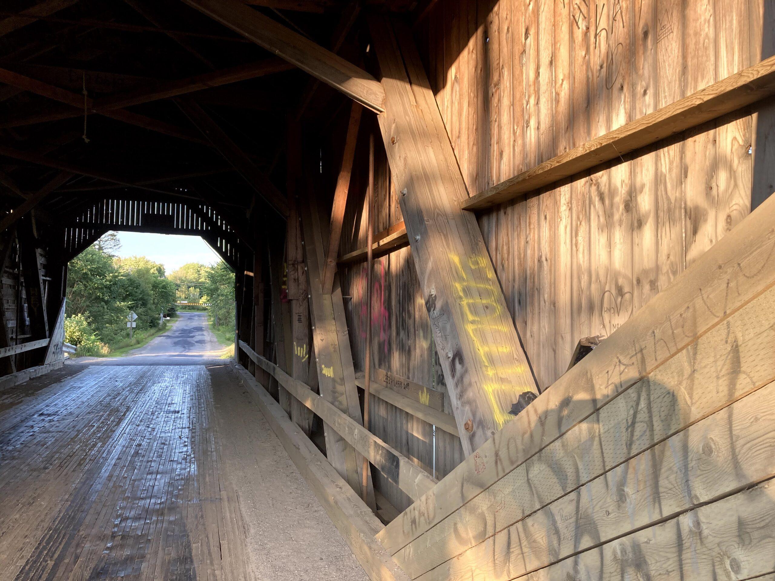 Interior of bridge.