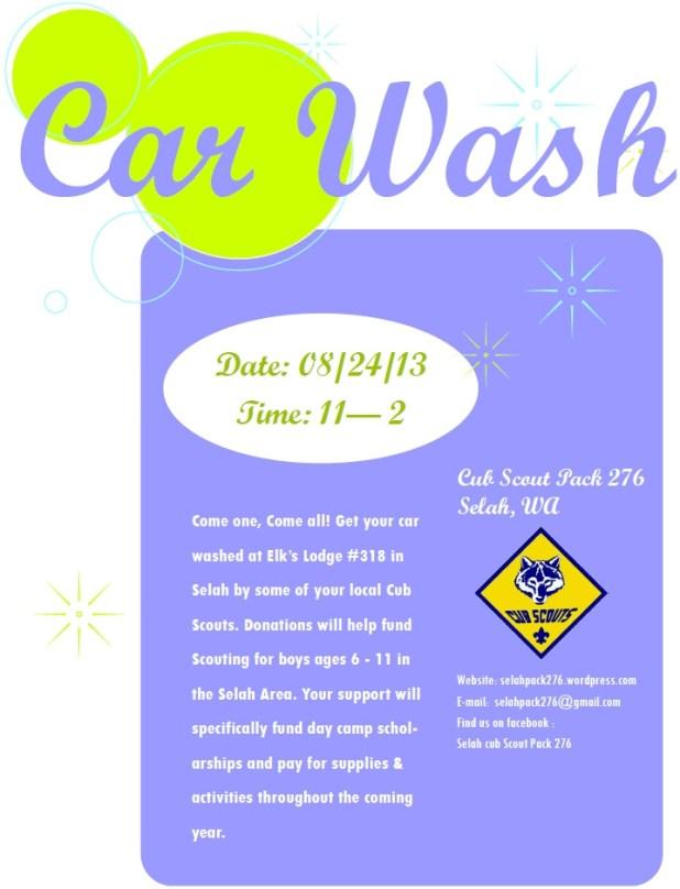Selah Cub Scout 276 Car Wash