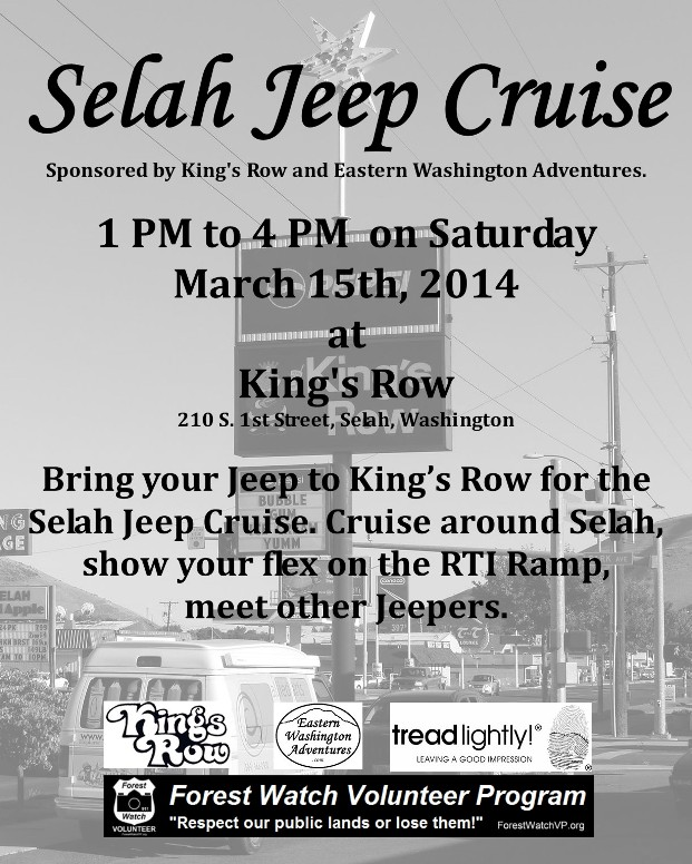 Upcoming: Selah Jeep Cruise - Saturday March 15 2014 1
