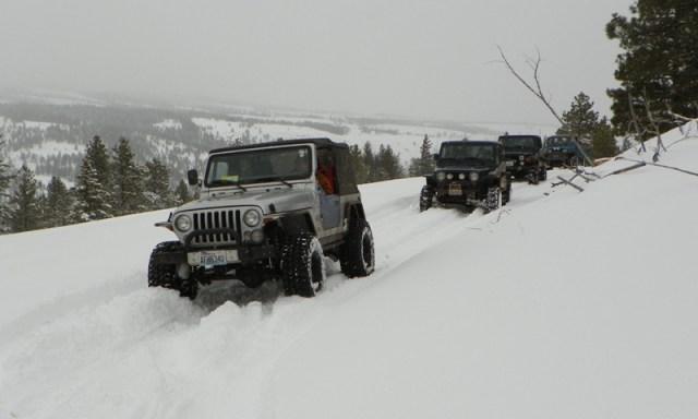 Peak Putters Cowiche Ridge Snow Wheeling 27
