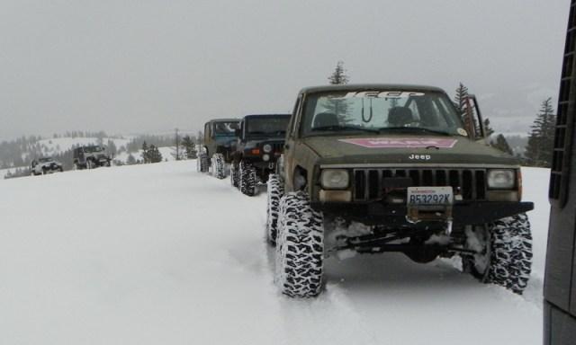 Peak Putters Cowiche Ridge Snow Wheeling 33