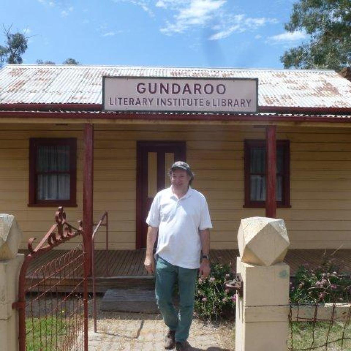 Christof at the Gundaroo Literary Institute & Library