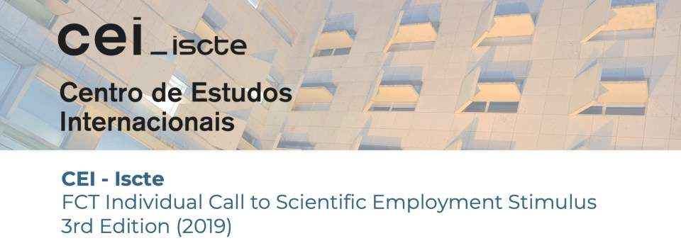 FCT Individual Call to Scientific Employment Stimulus – 3rd Edition (2019)