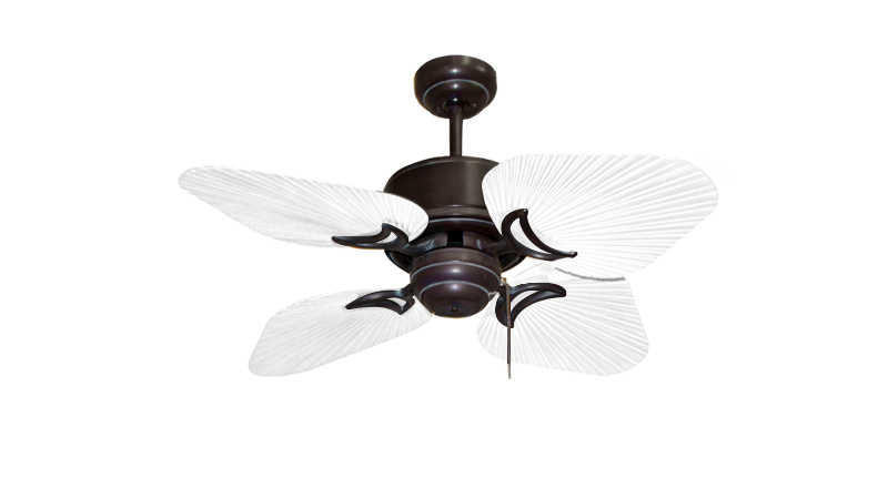 35 inch Bombay Oil Rubbed Bronze and Pure White Ceiling Fan