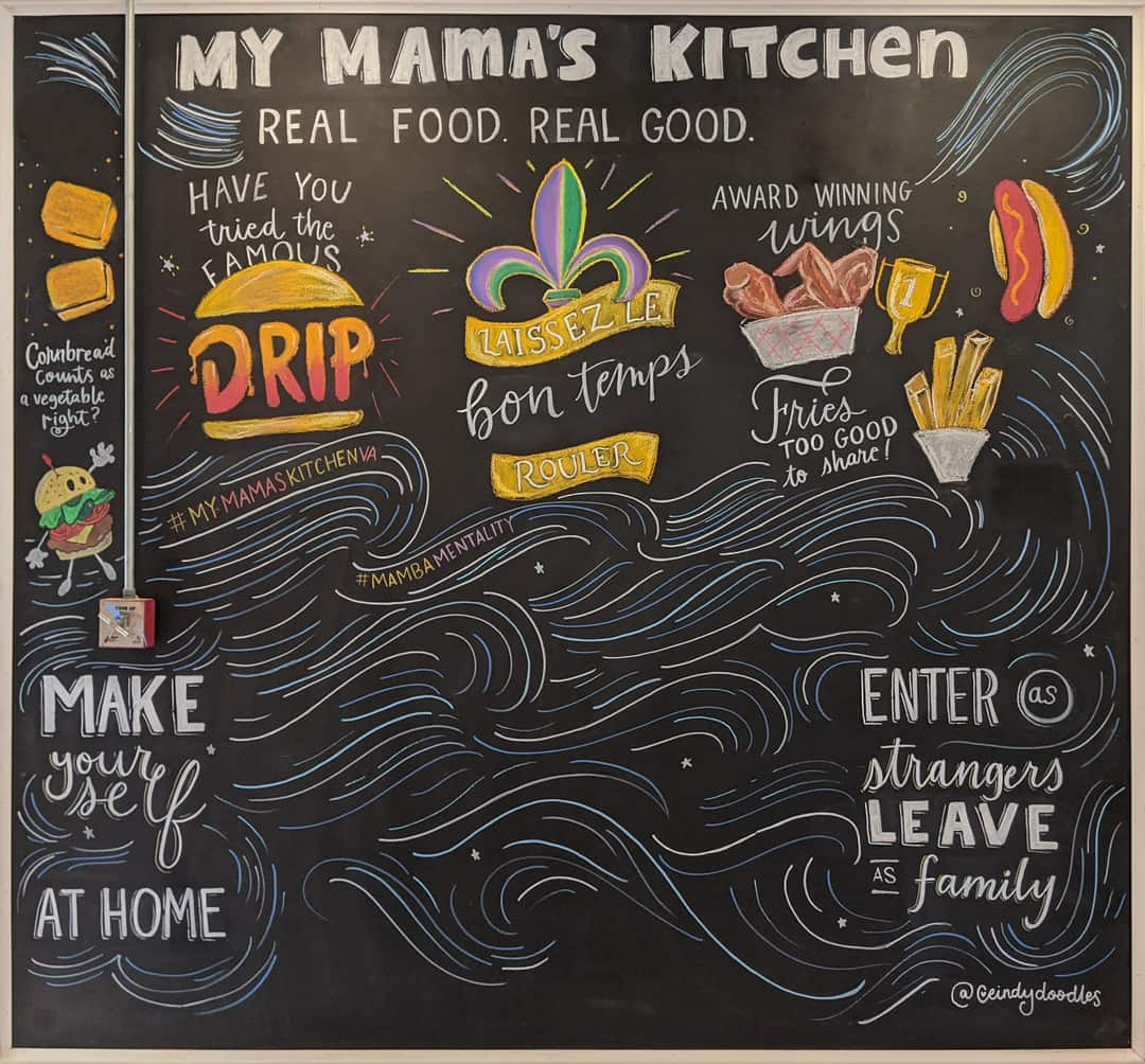 Chalk Mural at My Mama's Kitchen