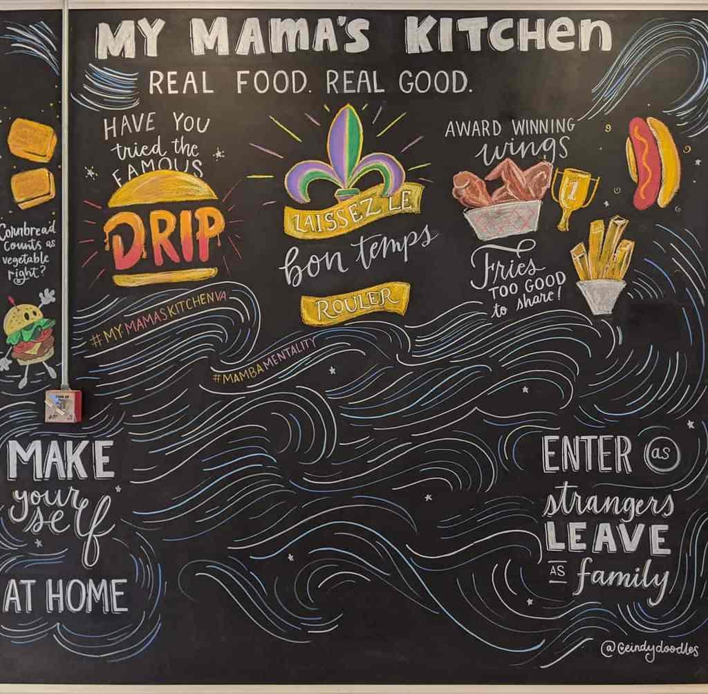 Chalk Mural at My Mama's Kitchen