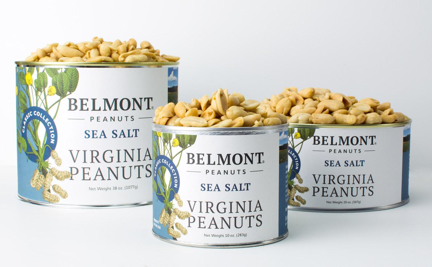 belmont peanut label redesign