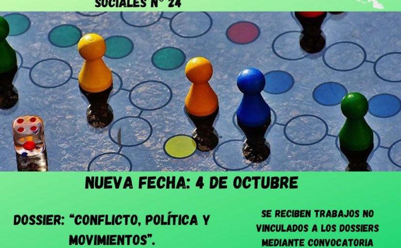 Convocatoria para Revista Interdisciplinaria de Estudios Sociales N° 24