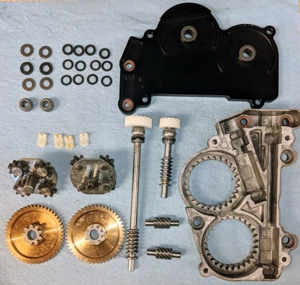 BMW E28 Seat Gearbox Detail