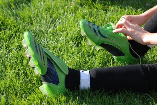 Green Soccer Boots