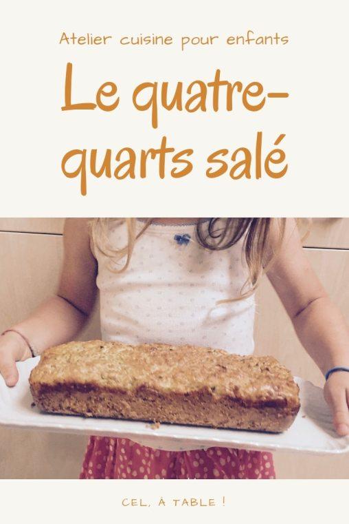 atelier cuisine pour enfants : le quatre-quarts salé aux courgettes