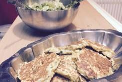 Repas du soir léger : galettes et salade