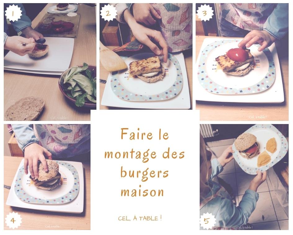 Les étapes de montage du burger maison