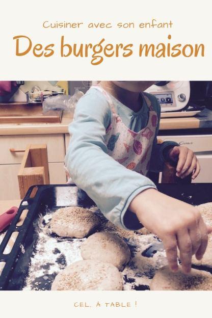 Cuisiner avec son enfant des burgers maison
