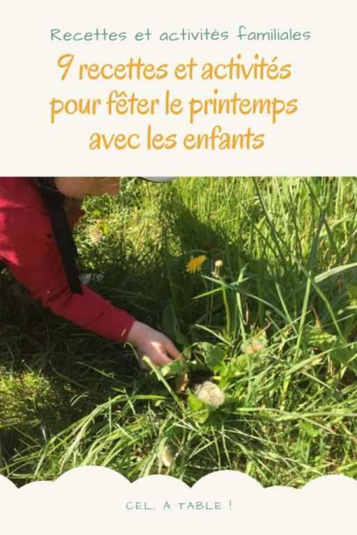 recettes et activités de printemps avec les enfants