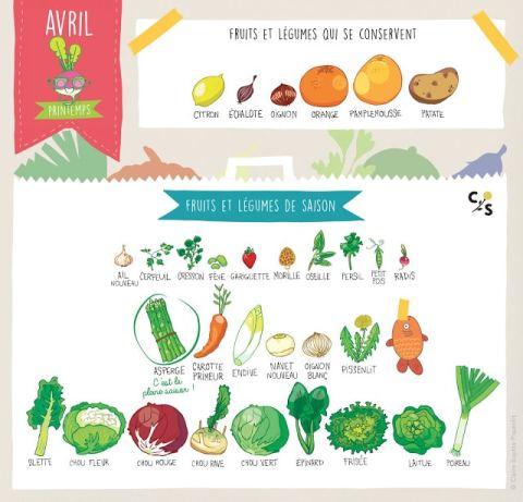 Les légumes de saison du mois d'avril