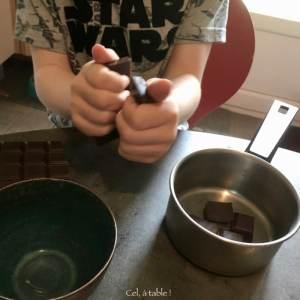 faire casser la tablette de chocolat aux enfants