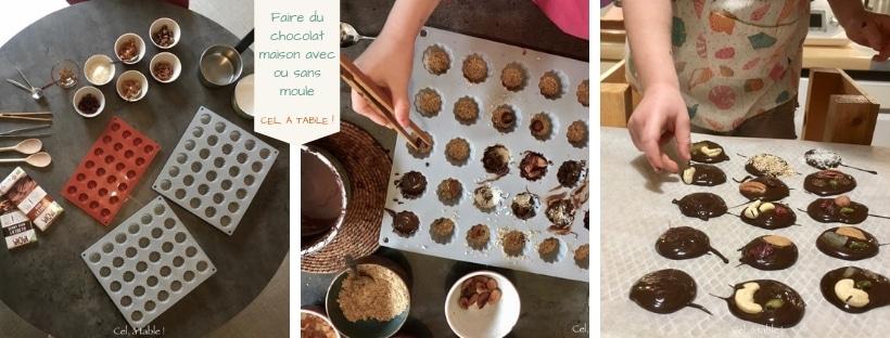 faire des chocolats avec ou sans moule