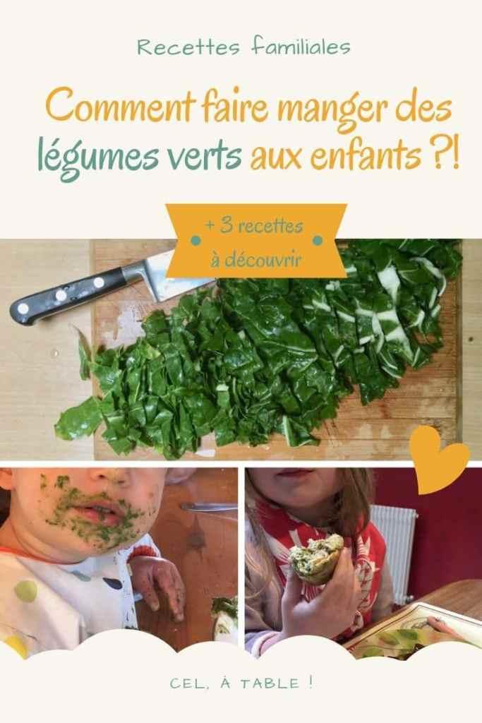 affiche de l'article comment faire manger des légumes verts aux enfants ?! 3 recettes à découvrir