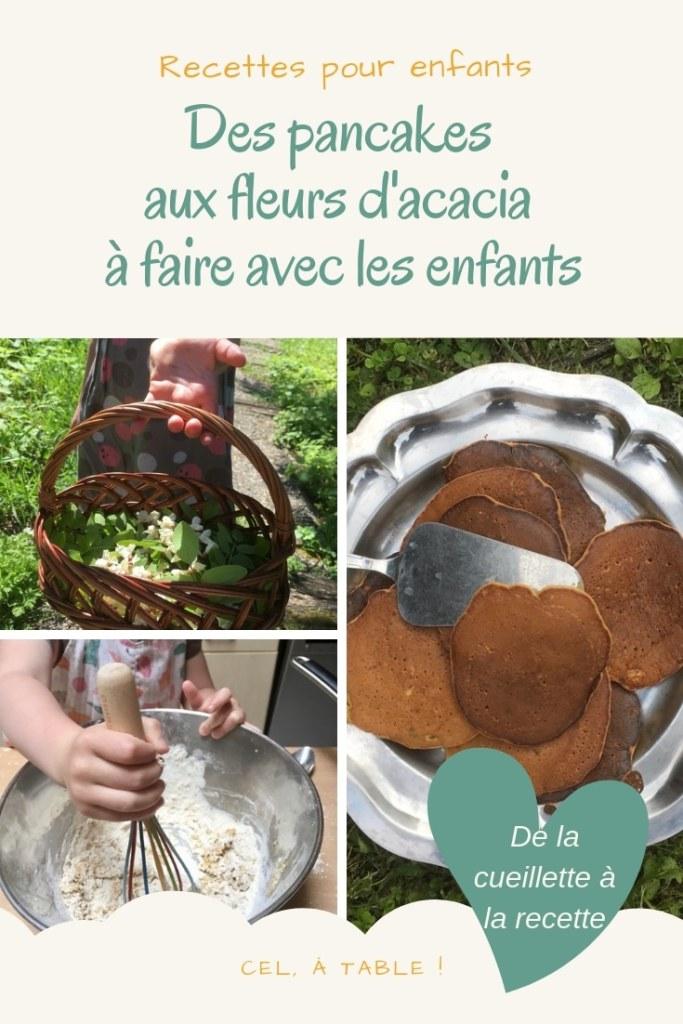 Recette des pancakes aux fleurs d'acacia à faire avec les enfants