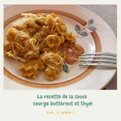 sauce courge butternut et thym