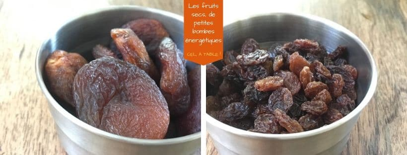 fruits secs : abricots et raisin secs