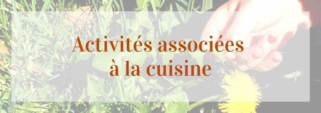 activités associées à la cuisine