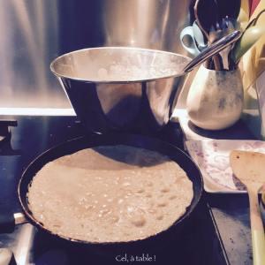 cuisson des crêpes